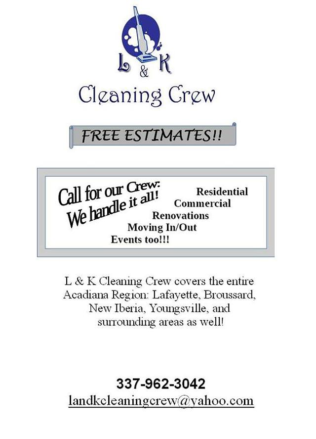 L  K Cleaning Crew