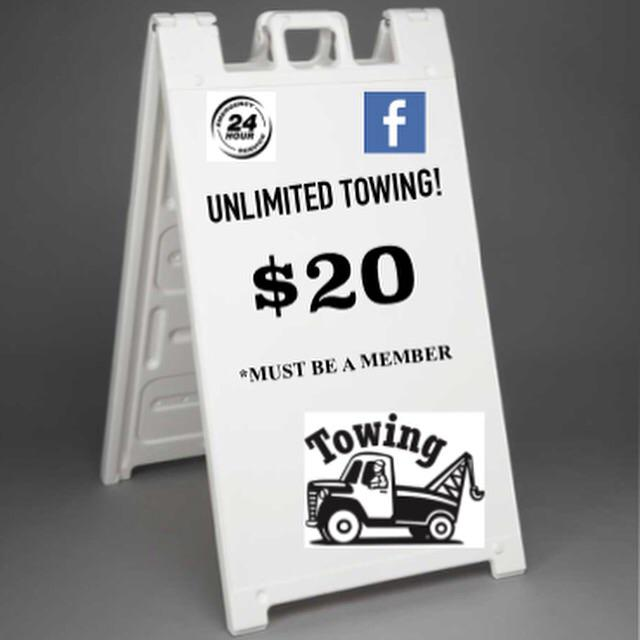 Unlimited Towing  - Nationwide  under  20 mo
