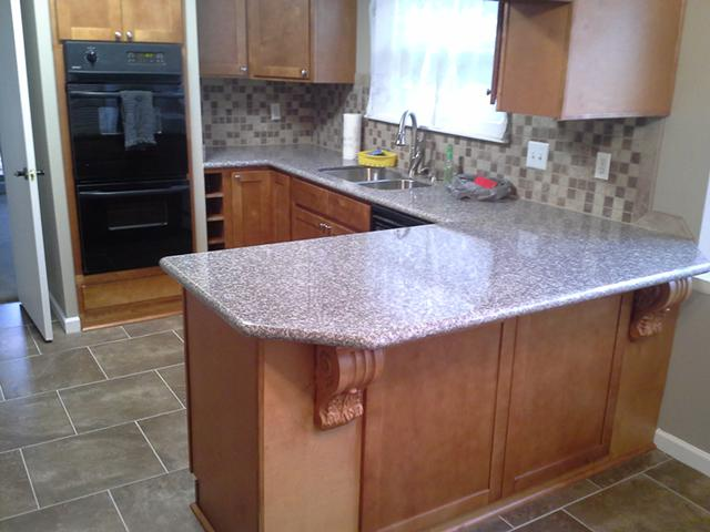 DIY Cabinets and Granite