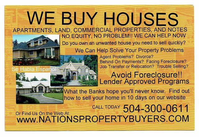 Local Investor Looking to Purchase Homes and Commercial Property