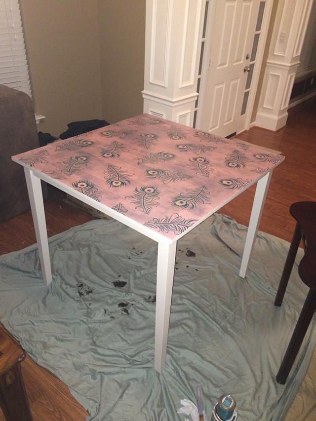 500  Refurbished dining room table