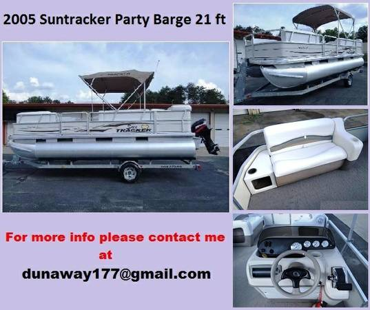 - 2OO5 SUNTRACKER PARTY BARGE PONTOON 21 ft - $ 25OO