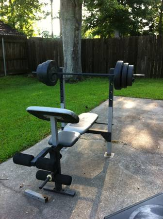 Golds Gym XR-7.9 Workout Bench with Weights - $50 (Moss Bluff)