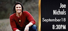 -------- 1-6 Joe Nichols 1st Row Floor Seats - Fri  Sept  18 - Call Now - Face Value ---------