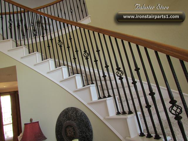 3  High quality iron balusters for stairs and balconies