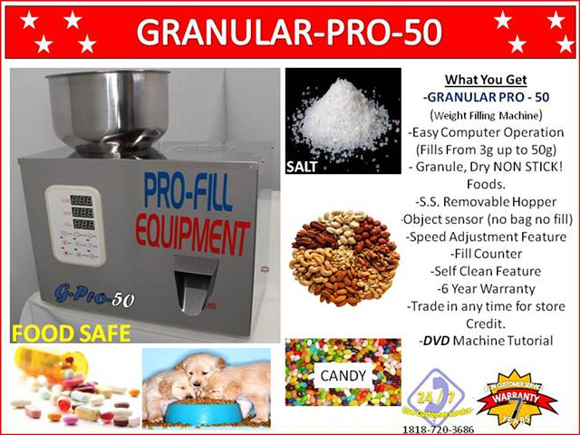 588  GRANULAR Pro-50 Weight Filling Machine