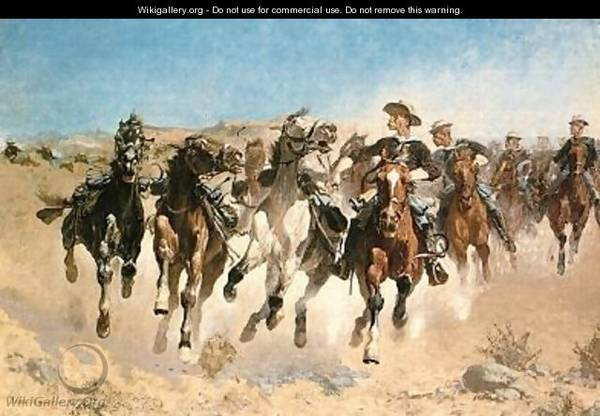 Frederic Remington Oil on Canvas Signed in plate Reproductions -   x0024 95  70663