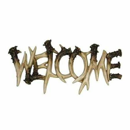 Antler Theme Welcome Plaque -   x0024 30  Lake charles