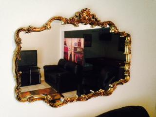 100  Very Large Antique Mirror trimed in gold    100
