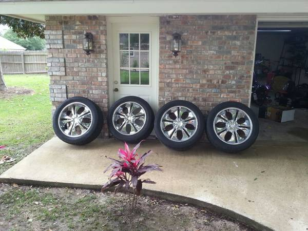 22 inch chrome 6 lug rims - $645 (lake charles)