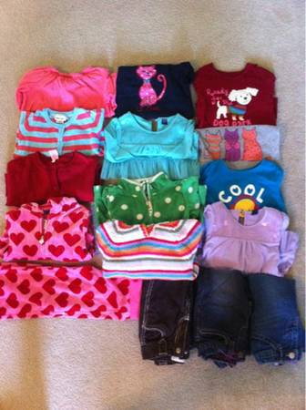 BABY GAP GYMBOREE and other brand girl winter clothes size 3T and 4T - $10 (South lake charles)