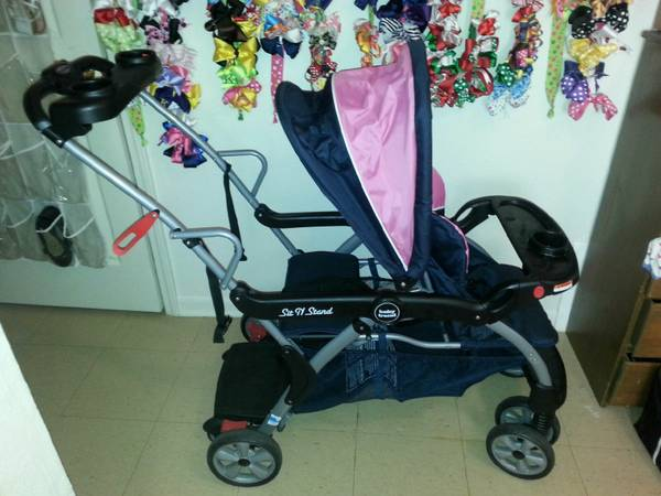 baby trend sit n stand double stroller and matching infant carseat -   x0024 75  iowa lake charles