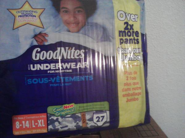 Huggies Goodnites underware (Sulphur, Louisiana)