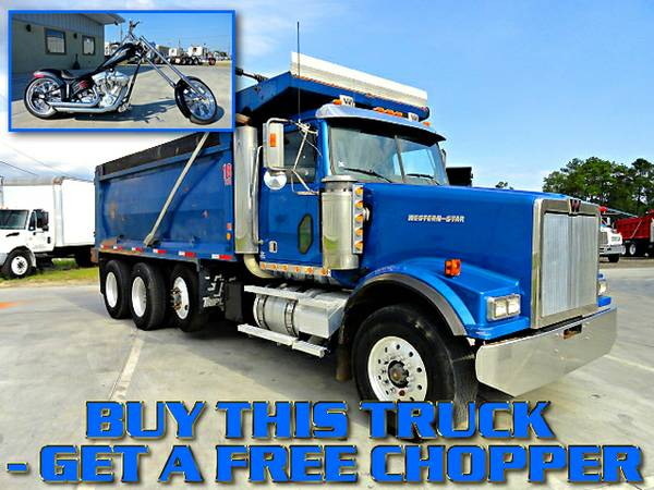 2006 WESTERNSTAR TRI-AXLE DUMP TRUCK FREE Custom Chopper (Gulfport, MS)