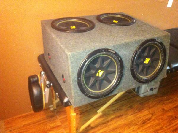 Four Kicker 12s,box,and 2000 watt Amp - $650 (Lake Charles )
