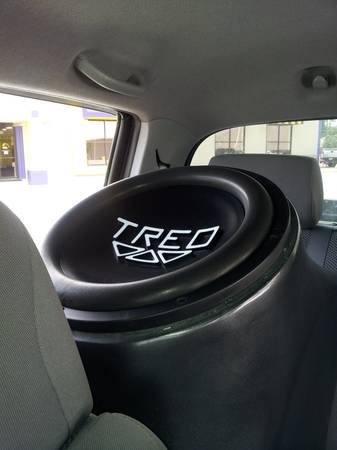 TREO 15 SSP Subwoofer in Custom Fiberglass Truck Enclosure - $395 (Lake Charles)