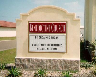 Tired of your church START YOUR OWN CHURCH  We can help