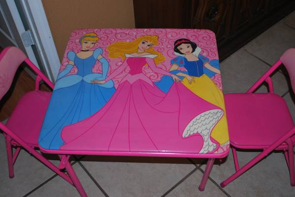 CHILD S PRINCESS TABLE WITH CHAIRS -   x0024 20  LAKE CHARLES