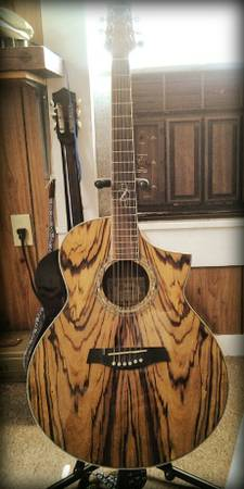Acoustic Guitar Ibanez ew series Zebra - $300 (DeQuincy)