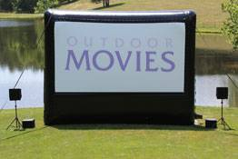 Outdoor Movie Screen -  125  Prien Lake