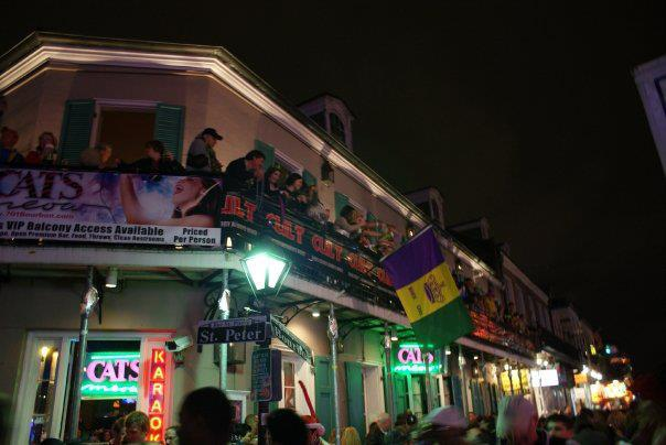 Fat Cats  Cats Meow - 701 Bourbon Street  New Orleans  LA   - Ph 1 504 523-2788