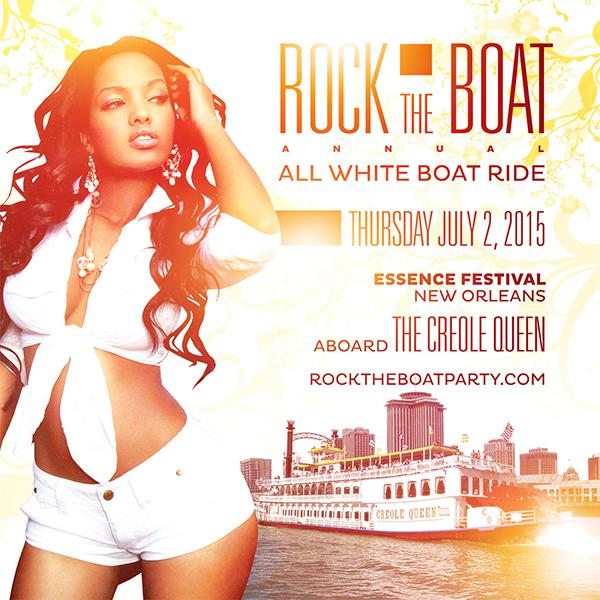 Rock The Boat 2015 All White Boat Ride Party During New Orleans Essence Music Festival