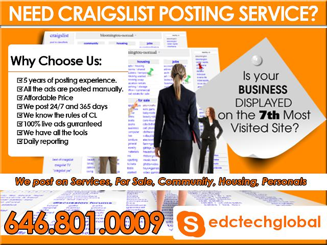 we are the best posting services on craigslist