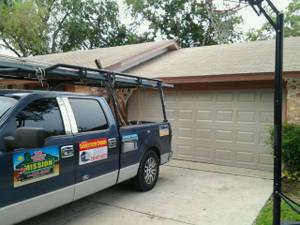 16x7 garage door installed $475.00 new all new parts white or almond (anywhere)