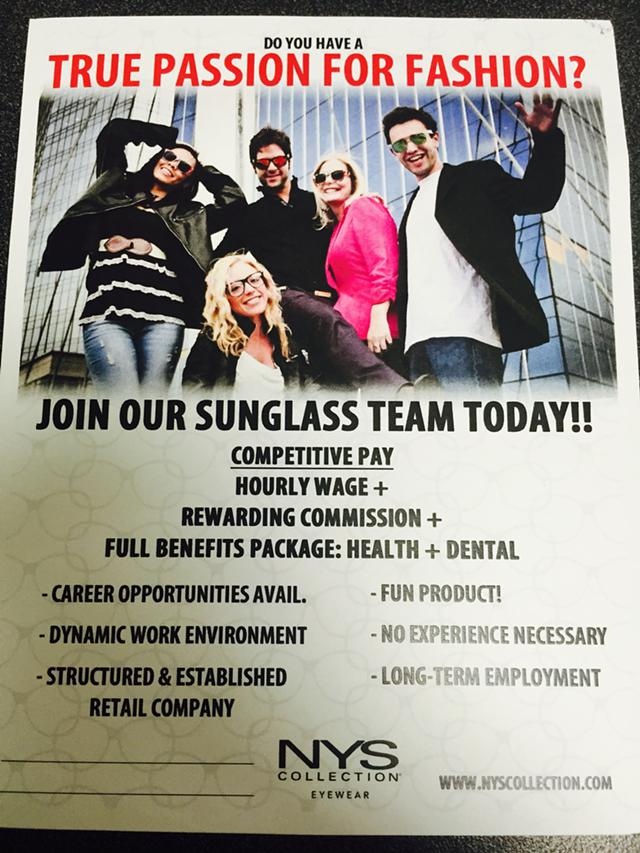 Join Our Sunglass Team Today