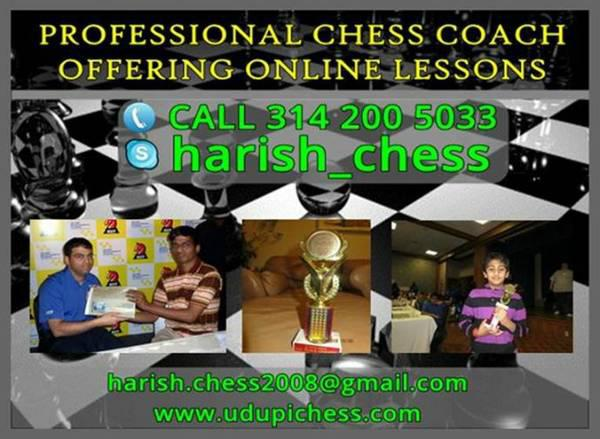 Chess Tutoring By Experienced Coach  8SessionOnline Chess Lessons By International Coach
