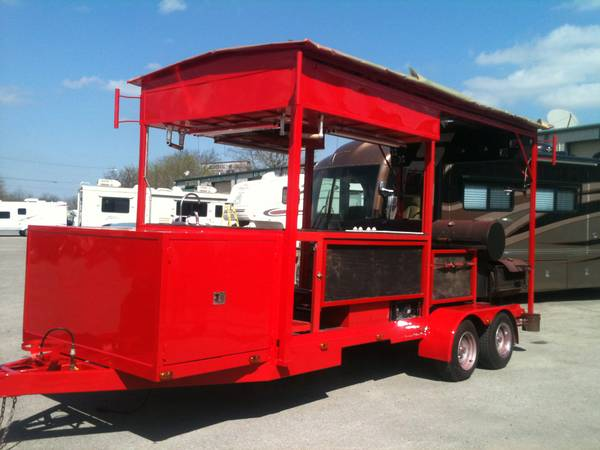 Concession  Competition BBQ Pit Trailer - $24000 (New Braunfels TX)