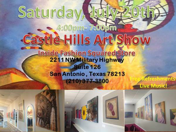 Artists and Vendors wanted  Castle Hills Art Exhibition  Inside Fashion Squared Store