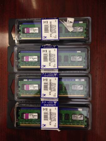 New Ram Memory - 4 sticks of  KTD-DM8400BE 2G -   x0024 25  North Laredo