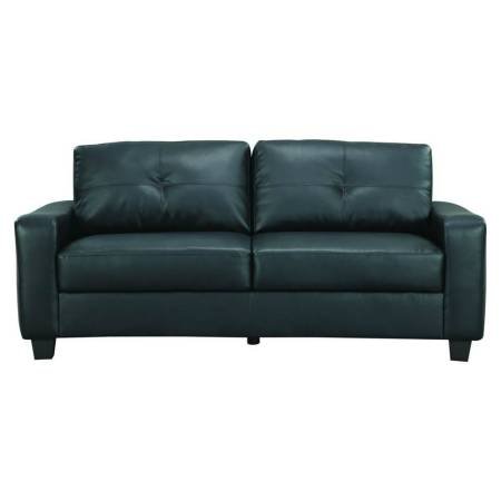 3pcs LACKS Black Leather sofa set - $950 (Laredo)