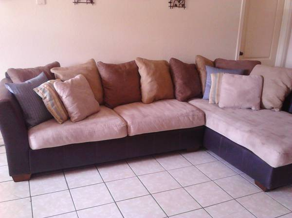 Ashley Furniture Suede Sectional Couch-Great condition - $250 (Corpus ChristiMendiola)