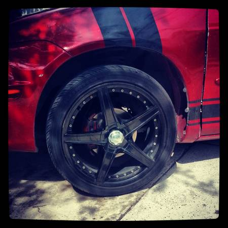 selling universal 5 lug 18 inch racing rims - $400