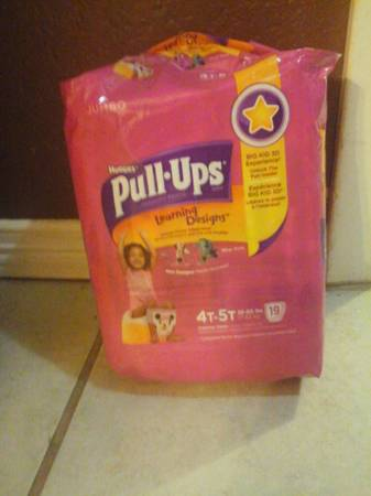 NEW HUGGIES PULL-UPS 4T-5T 19CT -   x0024 5  LAREDO TX
