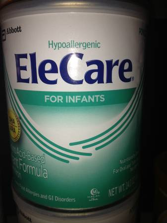 2cans of Elecare baby formula - $25