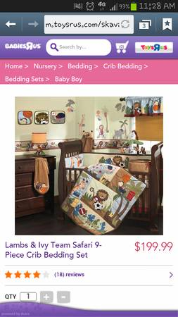 team safari baby boy crib bedding set
