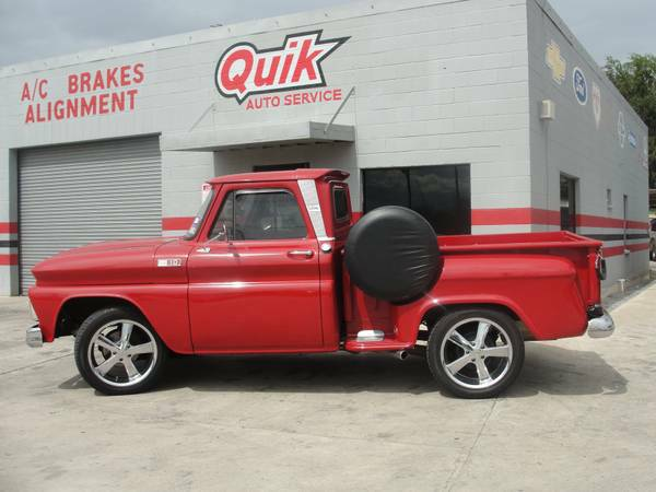 1965 CUSTOM CHEVY C10 STEP SIDE RED  - $21000