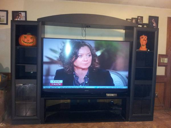 big screen TV 73 inch Mitsubishi and entertainment center - $2000 (rgv)