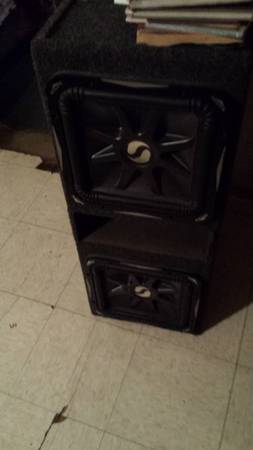 (2) 12 kicker L7 subs with box - $350 (Laredo)