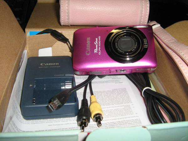 Canon Power Shoot Elph 100 HS HOT PINK -  100  Laredo