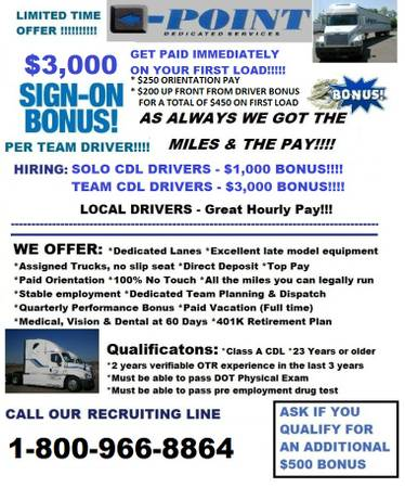 LOCAL DELIVERY DRIVERS-CDL NOW HIRING (LAREDOWEBB COUNTY)