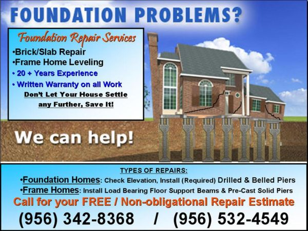 HOUSE LEVELING BRICK HOMES, WOOD FRAME HOMES, AND MOBILE HOMES. (VALLEYWIDE)