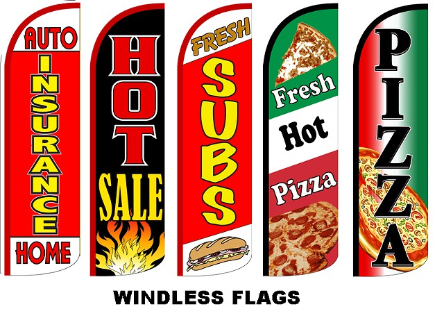 BBQ, Burger Car Wash, Pizza, Furniture, Accounting, Custom flags, Tax, Nails, Barber flag,