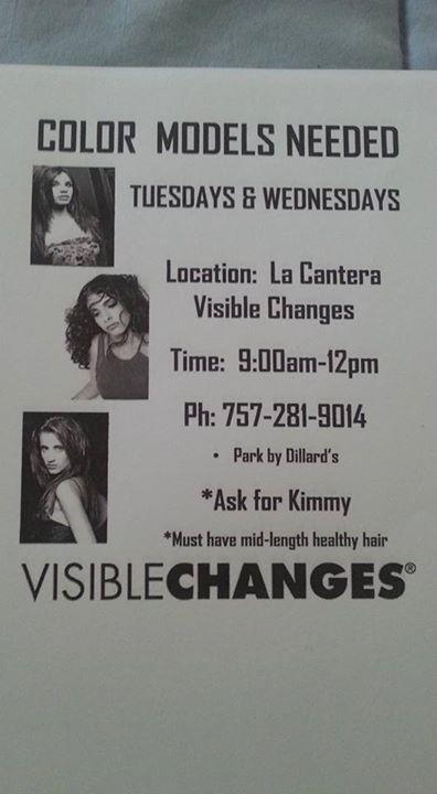 Hair Color Models Needed ASAP Visible Changes