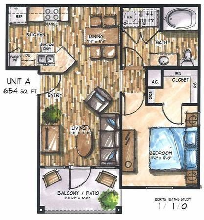 $775  1br - 10047 Last one on the 1st floor ONE BEDROOM ONE BATH 10047 (The Residence At Edinburg)