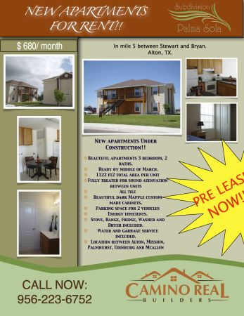 $680 3br - 1122ftsup2 - New apartments Under Construction FOR RENT (ALTON)
