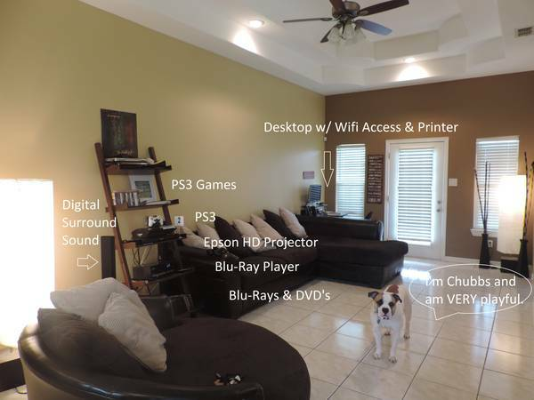 x0024 550   1br - Room for Rent Inside Furnished Neighborhood Home   ALL Bills Incl   Pharr  Sugar Rd  amp  Nolana